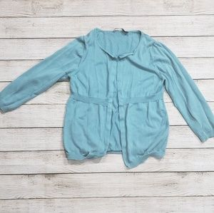Robin Egg blue Small Cardigan Sweater